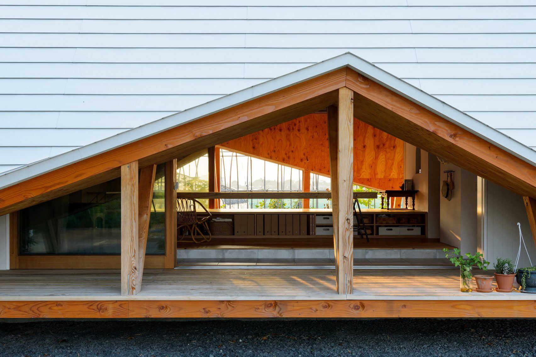 porche de casa haru minimalista