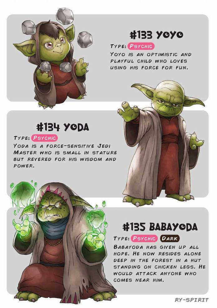 Poke wars, star wars y pokemon yoda