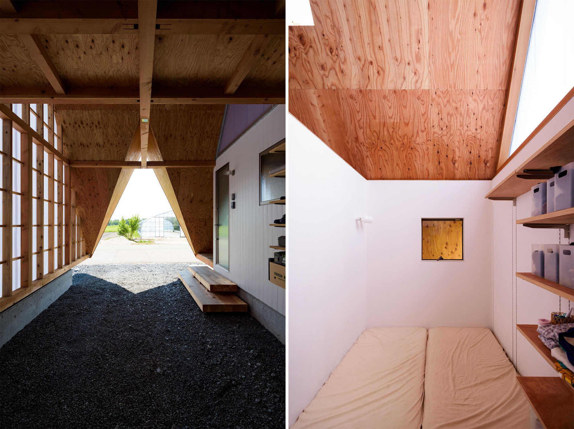 habitaciones interiores de casa minimalista en japon