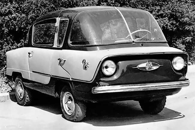 """coche NAMI-050 """"Belka"""" ('squirrel') (1955) primer monovolumen sovietico"""