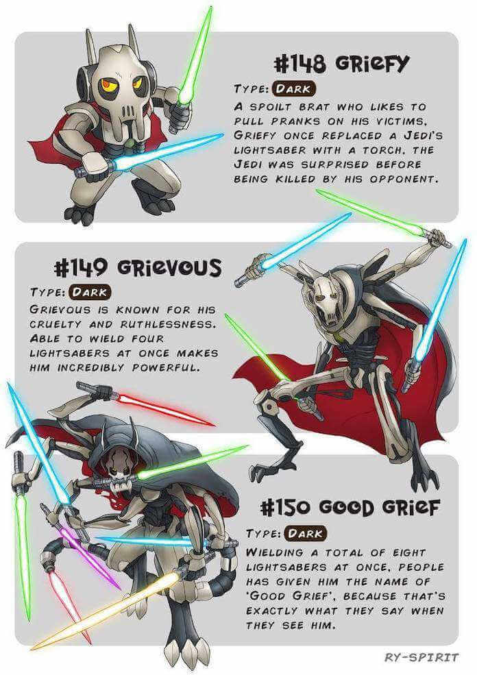 Poke wars, star wars y pokemon grievous