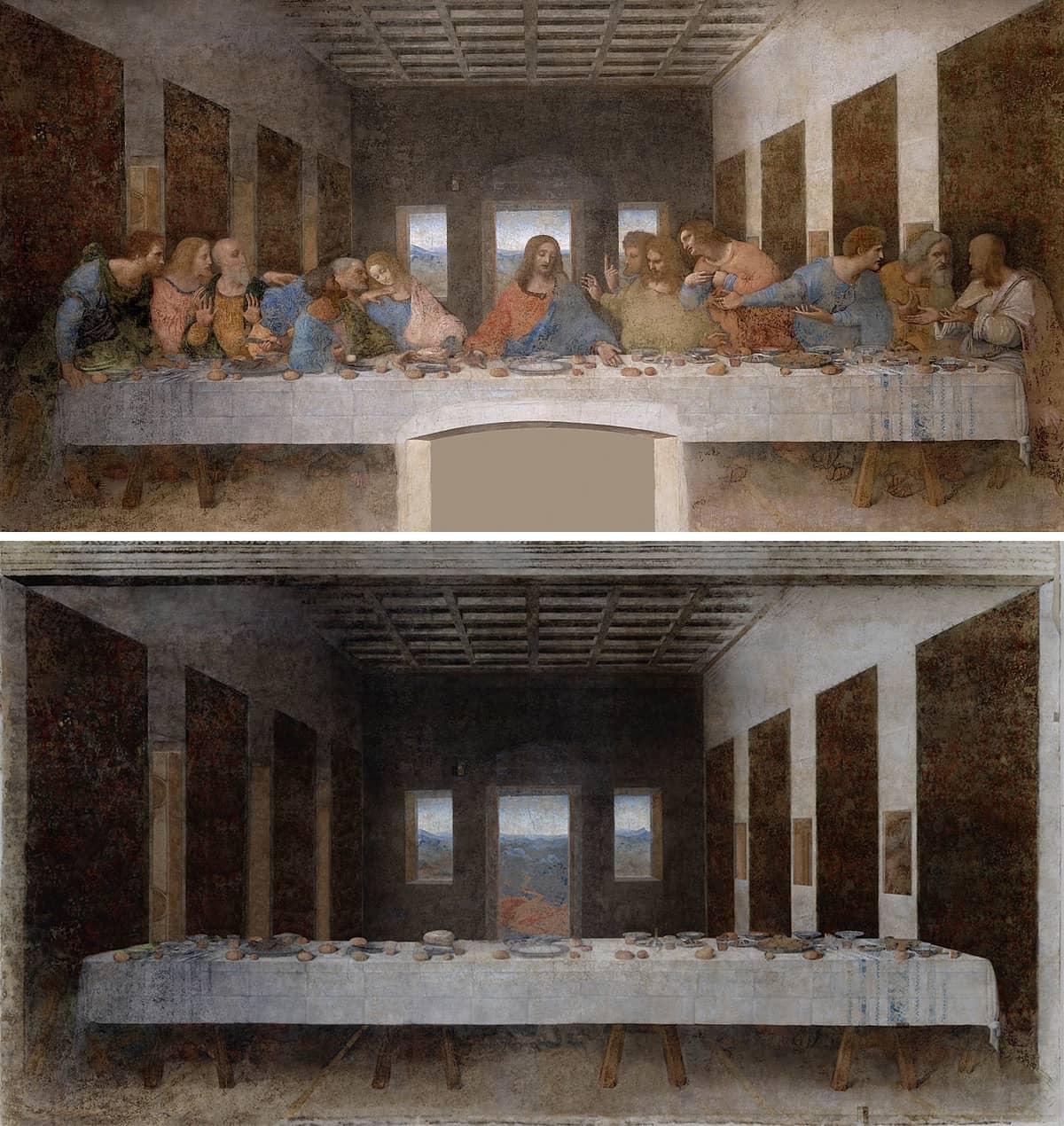 La última cena de Leonardao da vinci