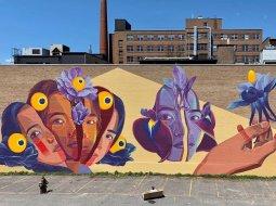 mural de mujeres de cali en colombia por gleo