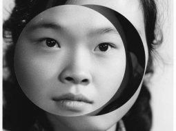 Kensuke Koike collage de fotografia de una mujer japonesa