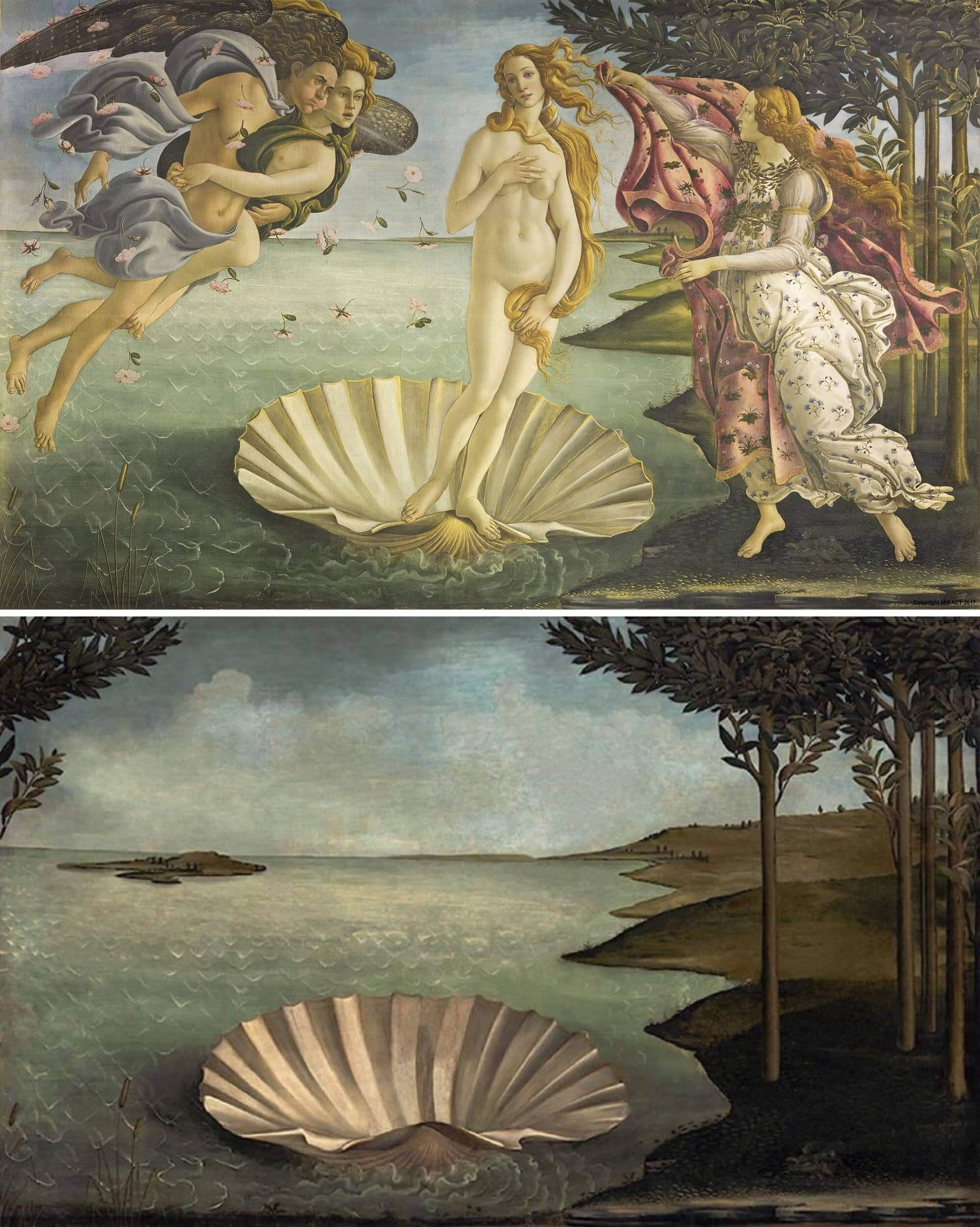 El nacimiento de Venus de Sandro Botticelli