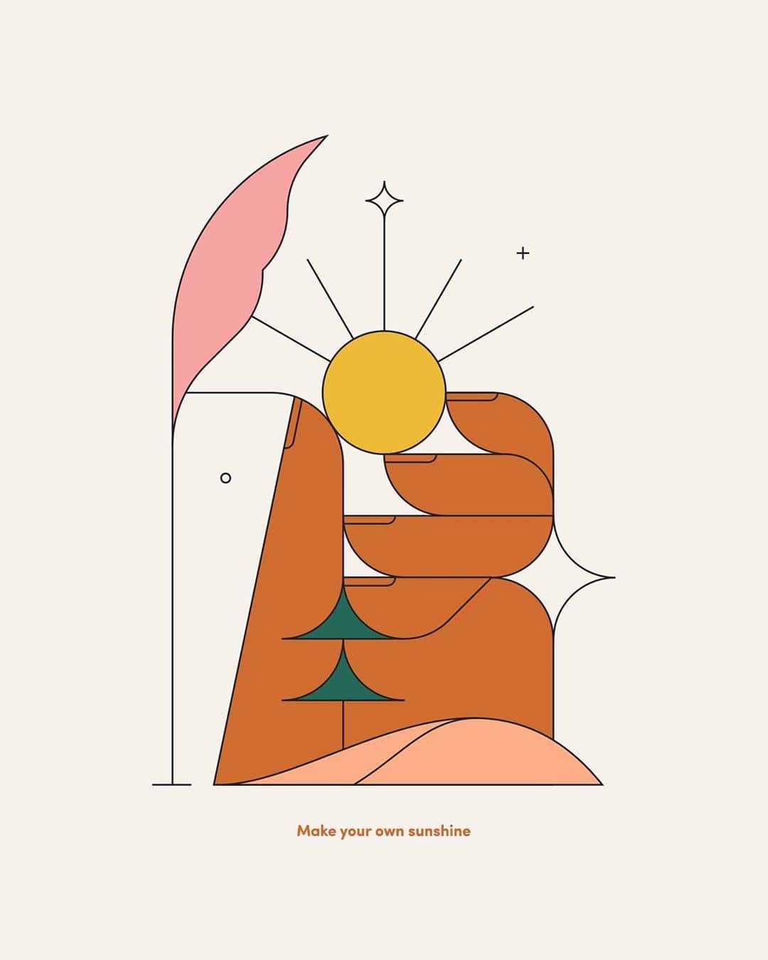 ilustración del sol por Calvin sprague