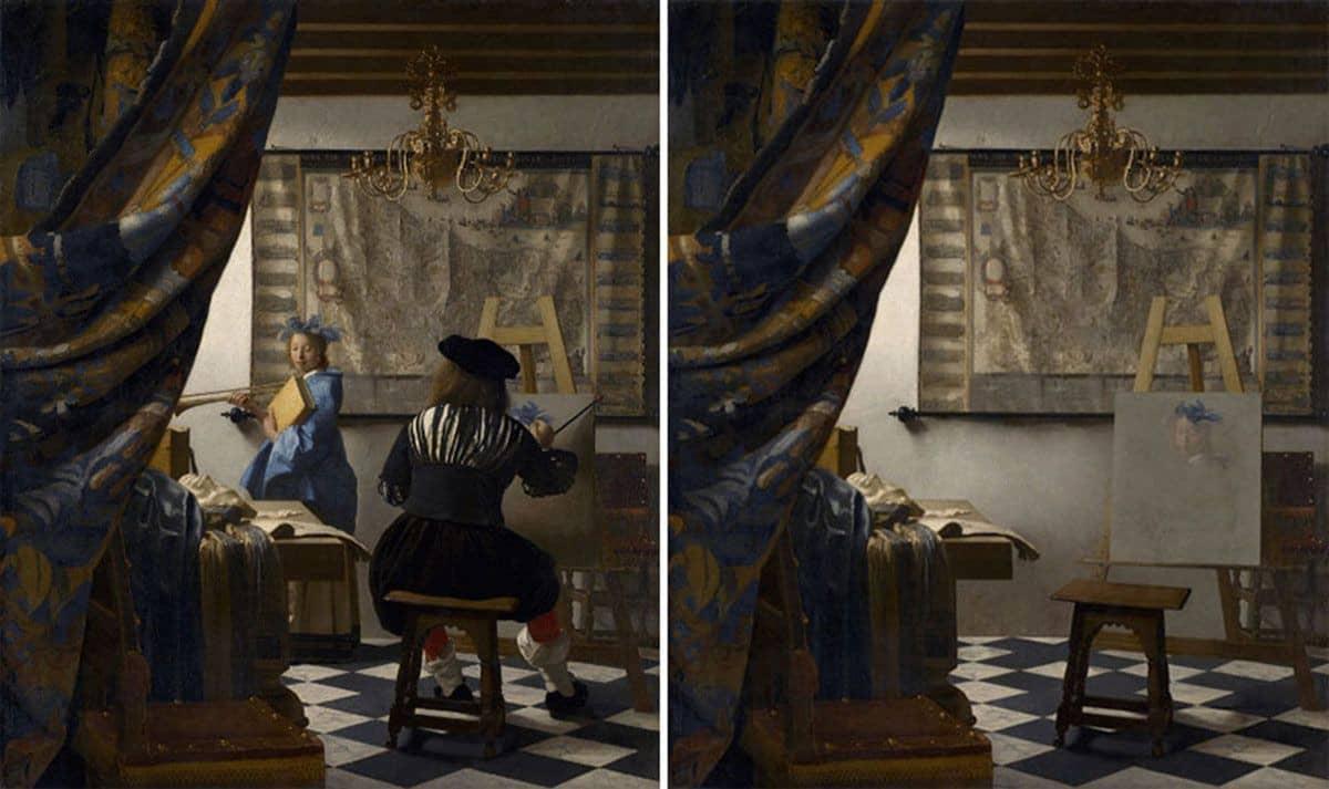 La alegoría de una pintura de Jan Vermeer