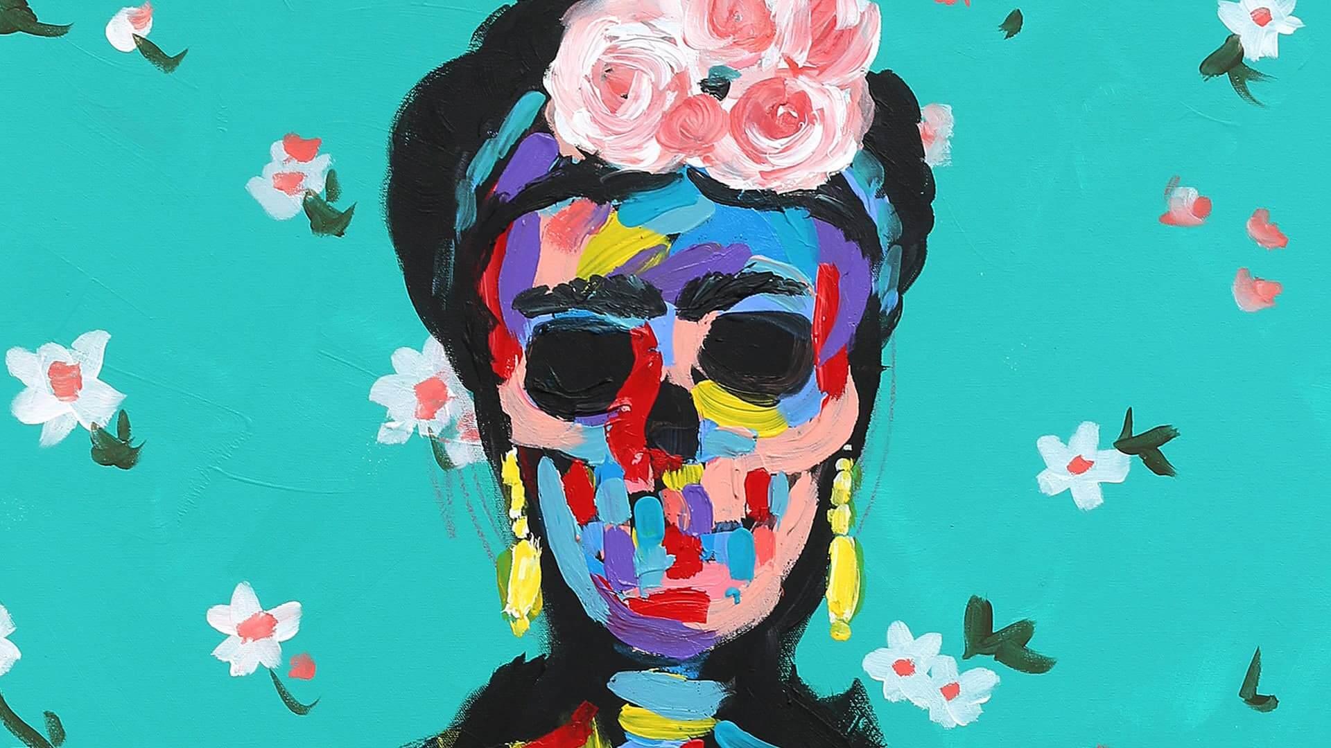 Pintura de Frida Kahlo de bradley Theodore