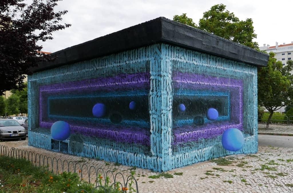 ilusion óptica del artista callejero Izzi Izvne