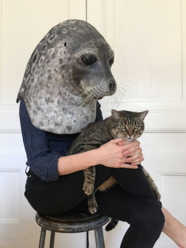 Mascara de pepel de foca