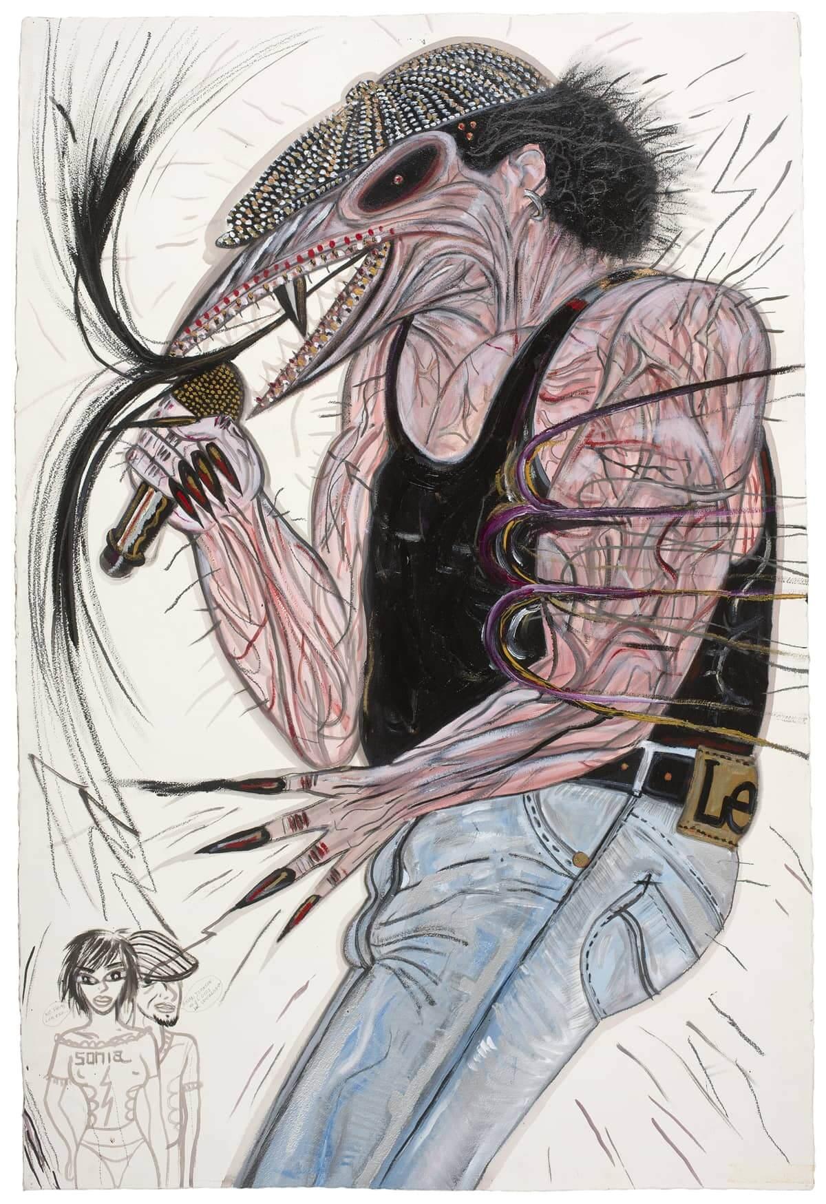 dibujo Brian Jhonson acdc