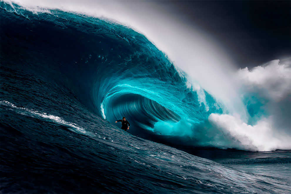 """The Right"". (Fotografía de surf de Ren Mcgann)"