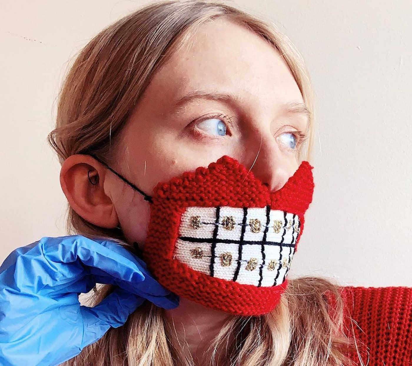 mascarillas originales aparato de dientes