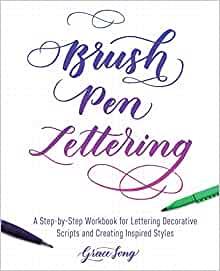 Bolígrafo con texto en inglés: un libro de trabajo paso a paso para aprender guiones decorativos y crear estilos inspirados.