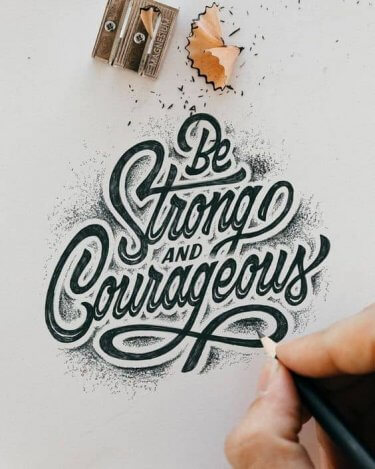 ejemplo de lettering para ilustrar los mejores libros de tipografía y lettering para comprar en amazon