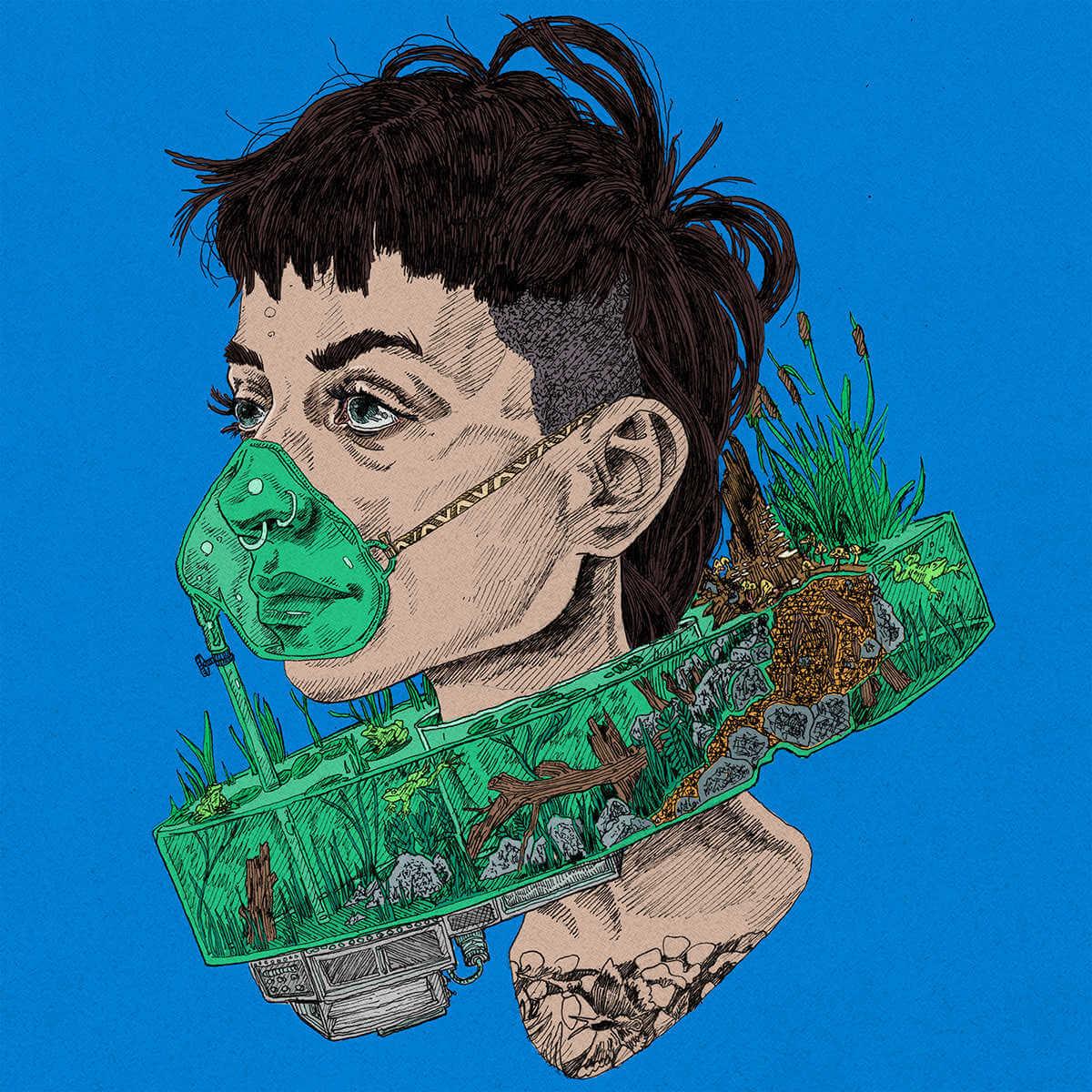 ilustracion de mascarilla quirurjica version 2