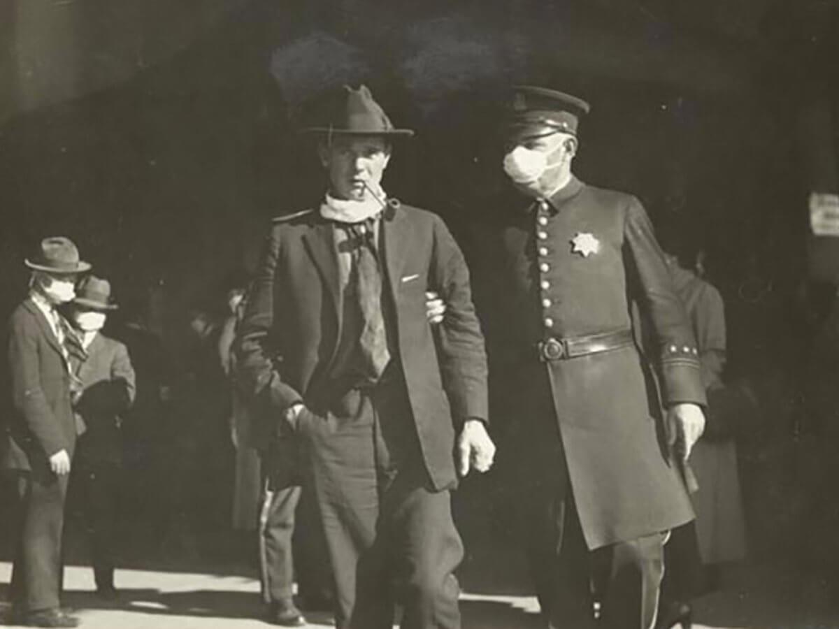 holgazanes de las mascaras 1918