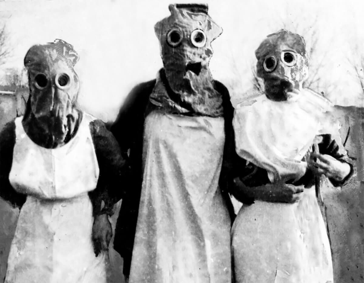 mascaras pandemia 1918