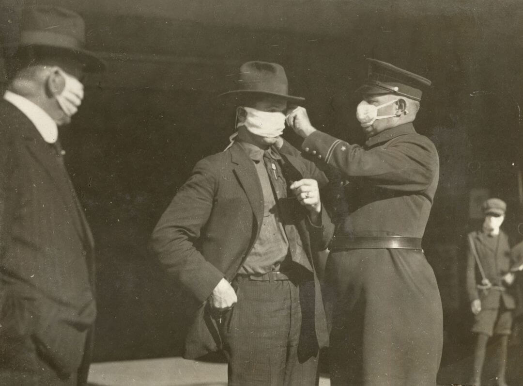 mascaras pandemia gripe 1918