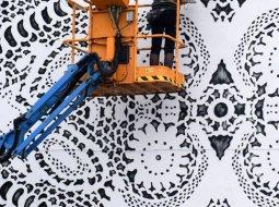 nespoon arte urbano de encaje vert
