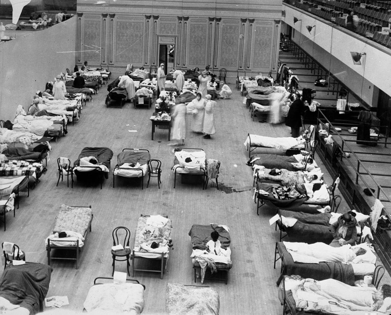 pandemia 1918 hospitales improvisados