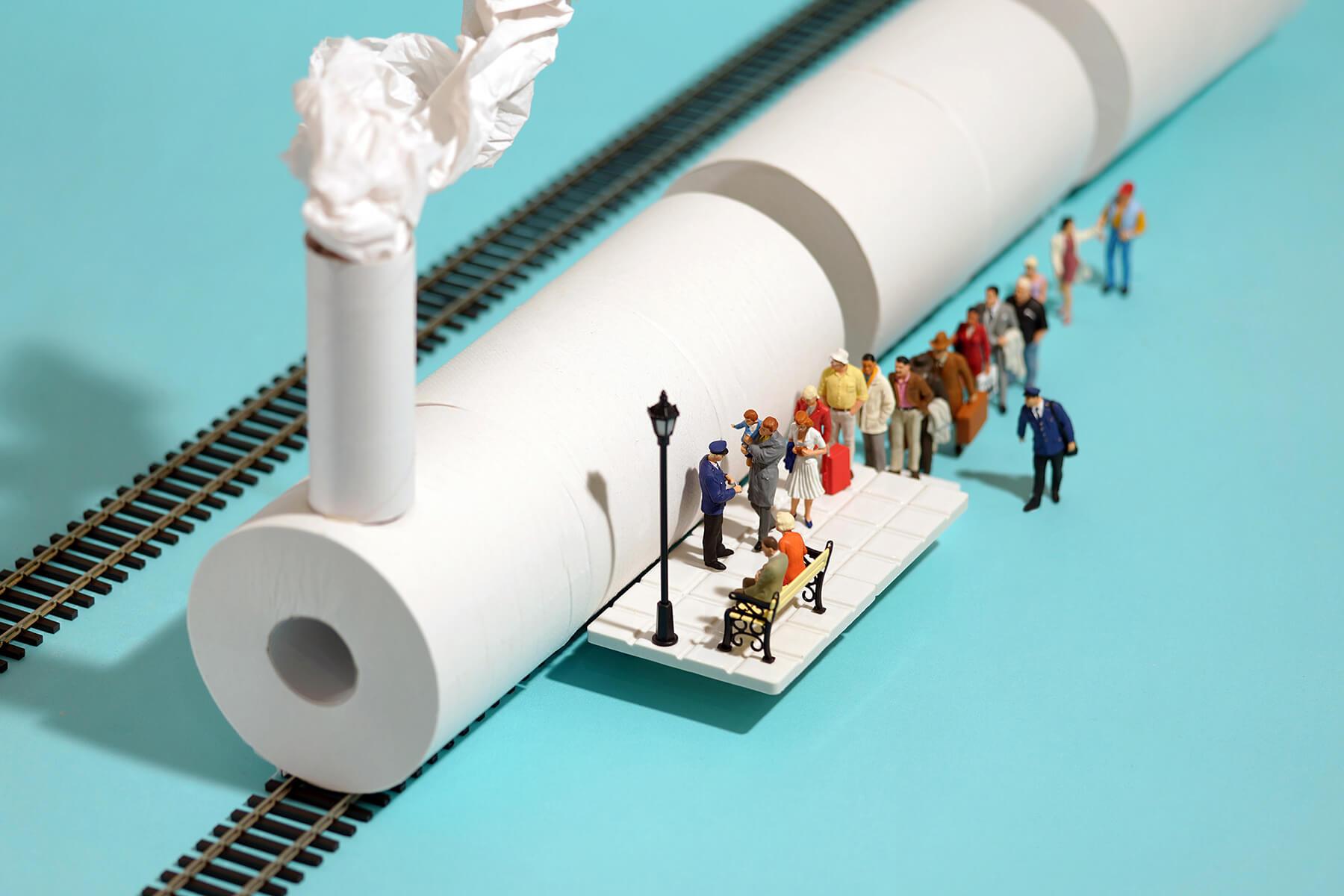 tren papel higienico tatsuka