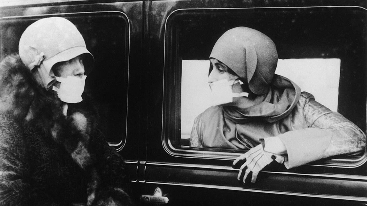 uso de mascaras pandemia 1918