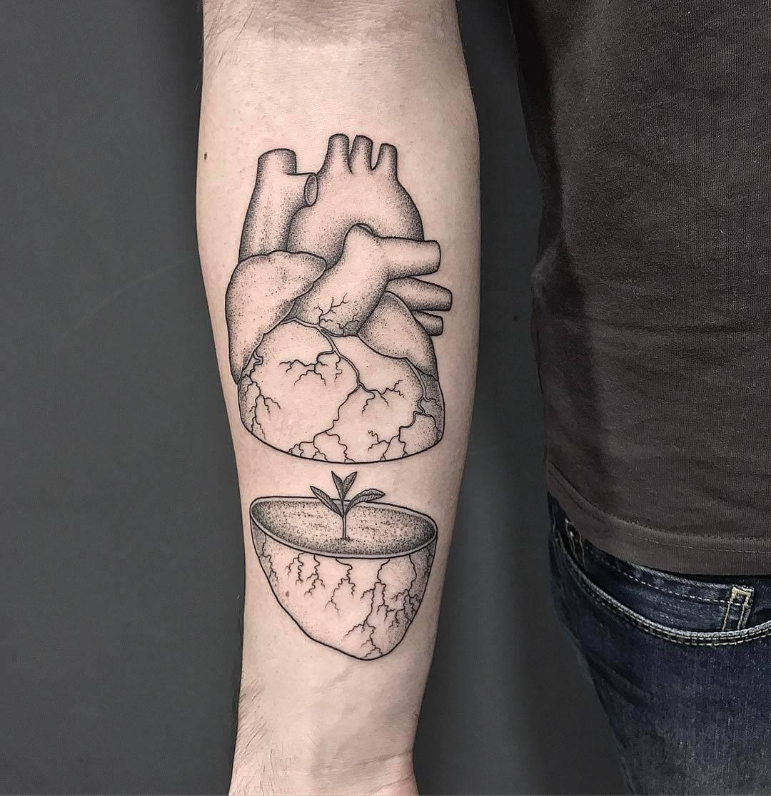 volpi tattoo corazon