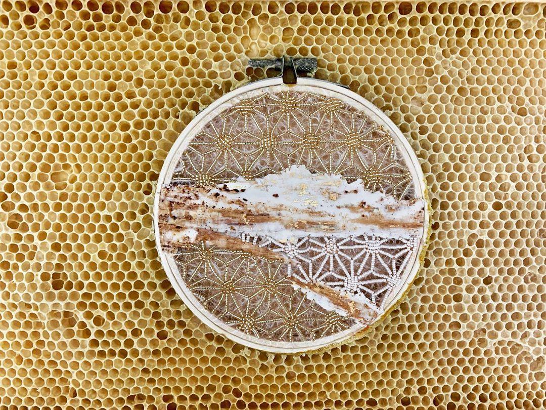 gold and cream encaustica ava roth