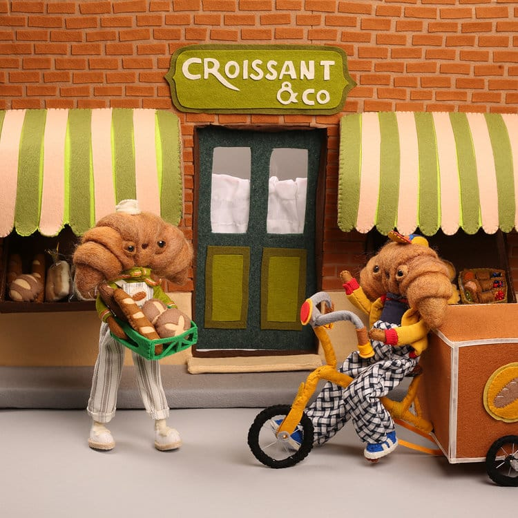 panaderia de croissant cat rabbit