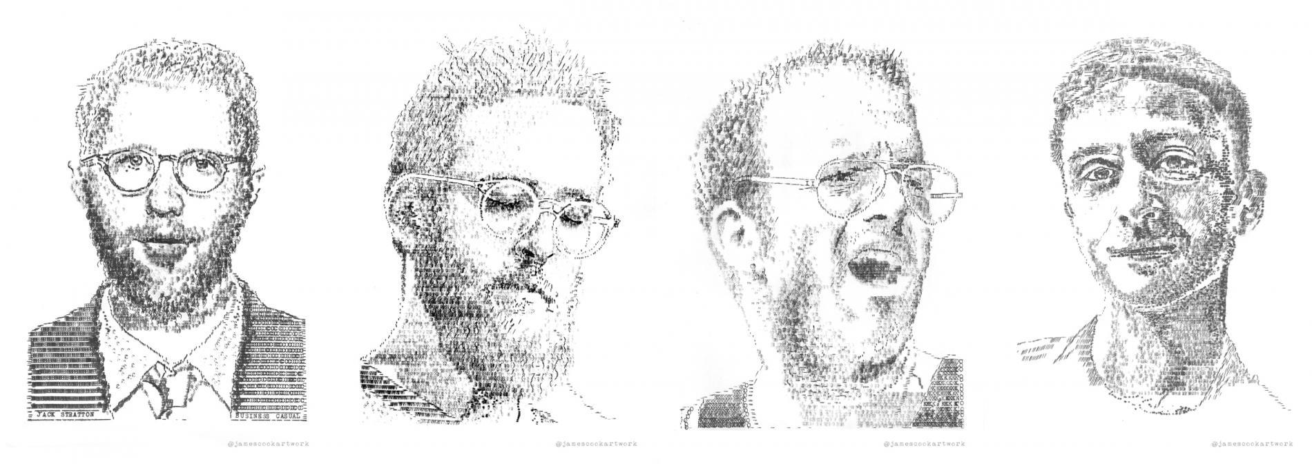 retratos james cook tipografia