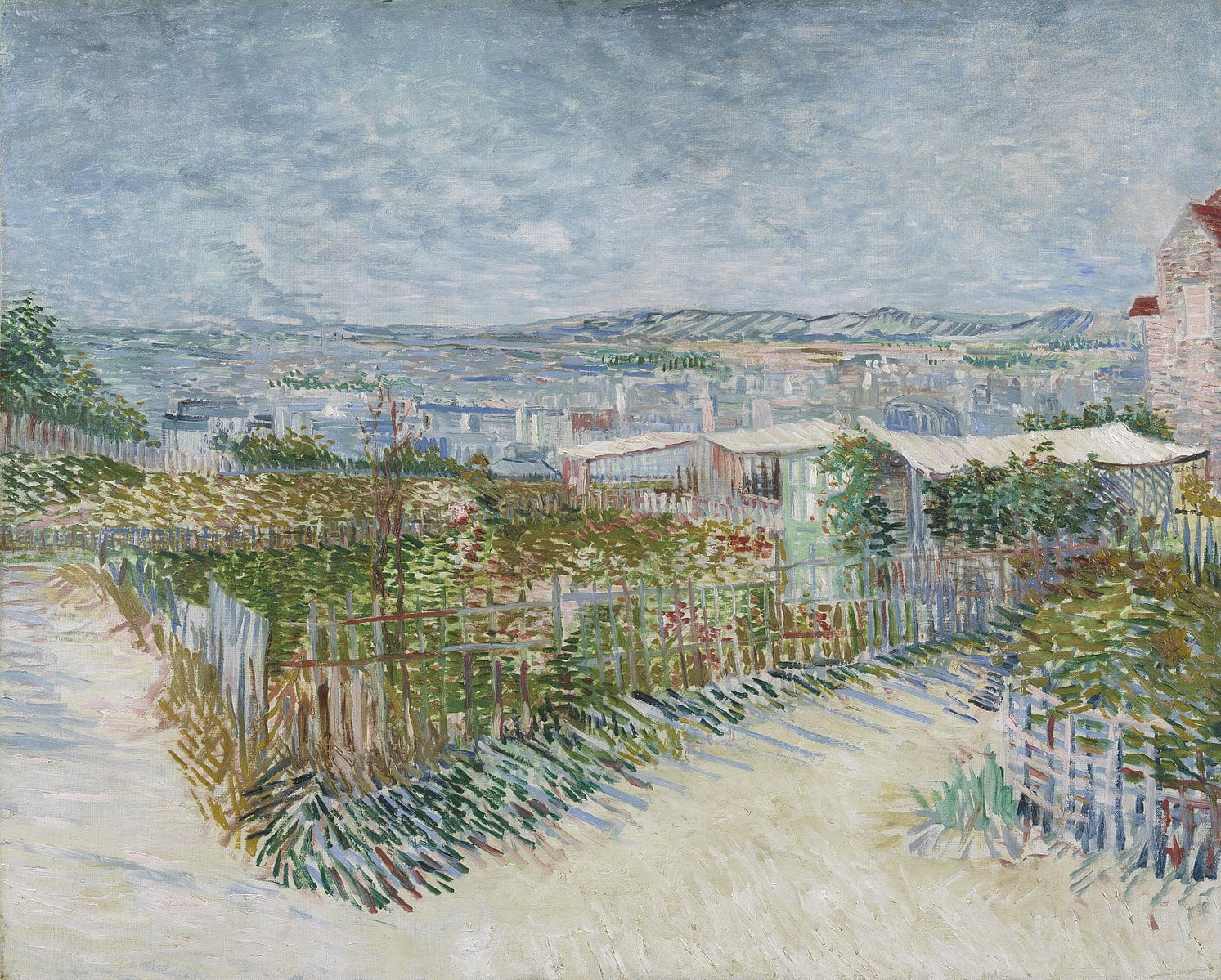 Montmartre Behind the Moulin de la Galette van gogh