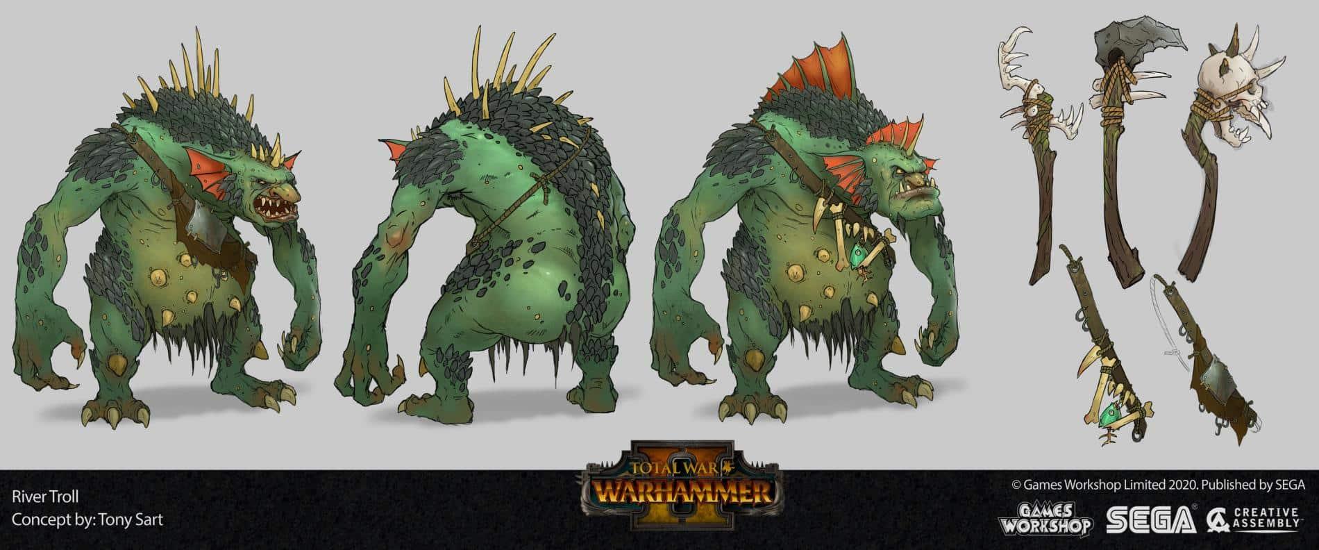 Total War Warhammer II troll tony sart