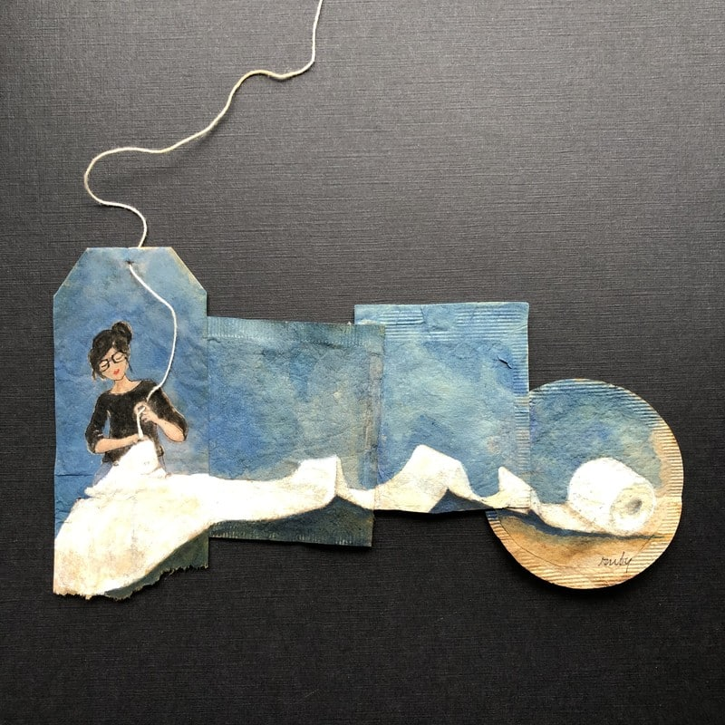 ruby silvius miniaturas en bolsas de te covid blue 3
