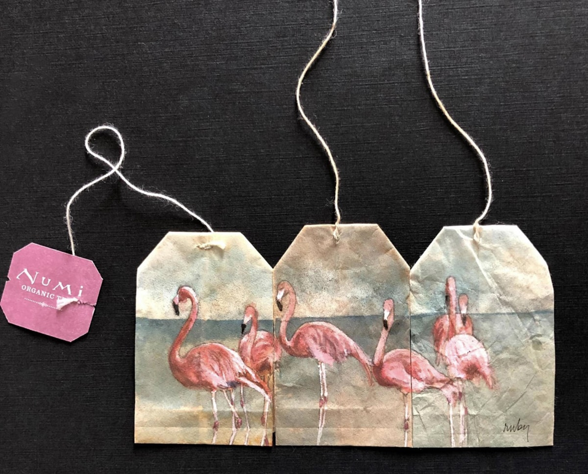 ruby silvius miniaturas en bolsas de te flamencos
