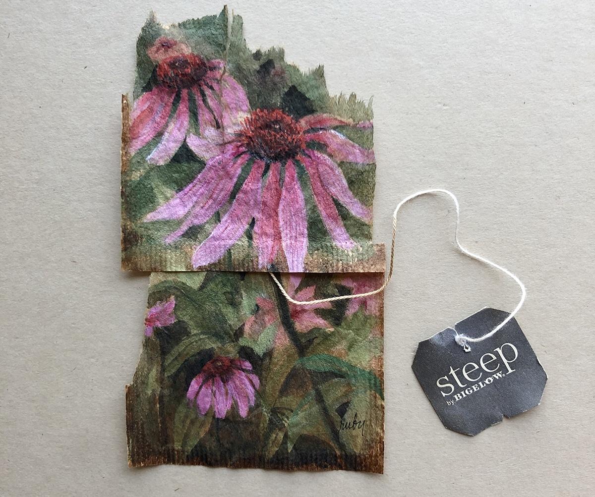 ruby silvius miniaturas en bolsas de te flores
