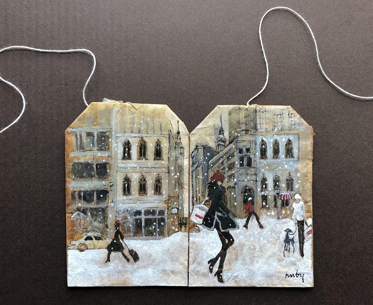 ruby silvius miniaturas en bolsas de te nieve