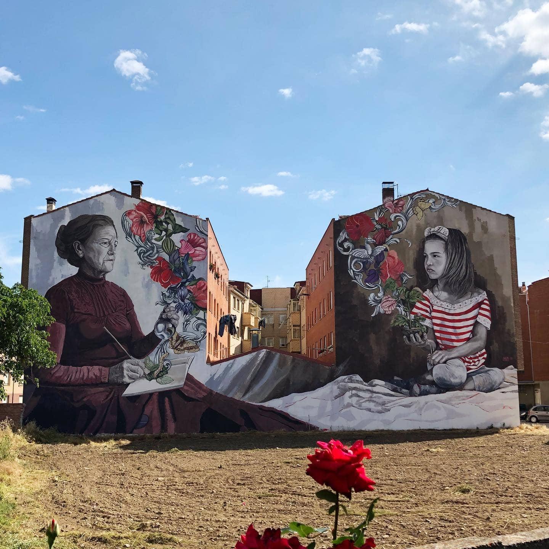 Belorado Spain lula goce street art