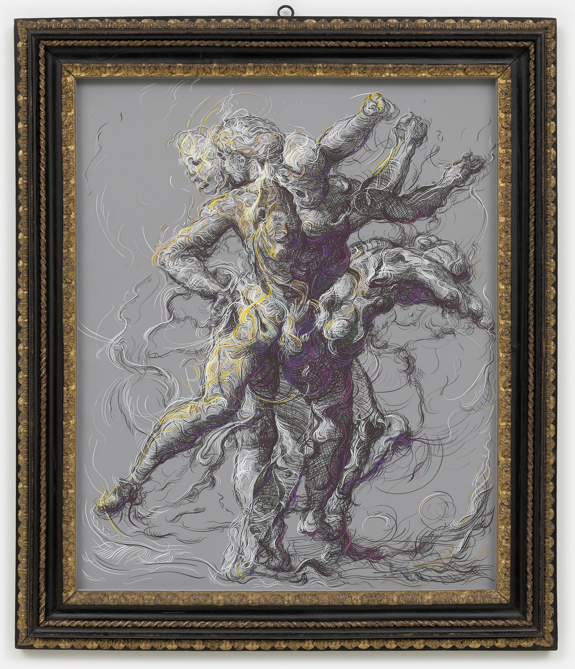 Drawing 2 after Delacroix n Raphael