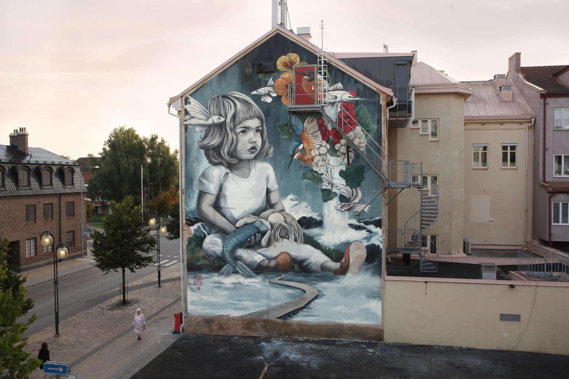 Kristianstad Sweden lula goce street art