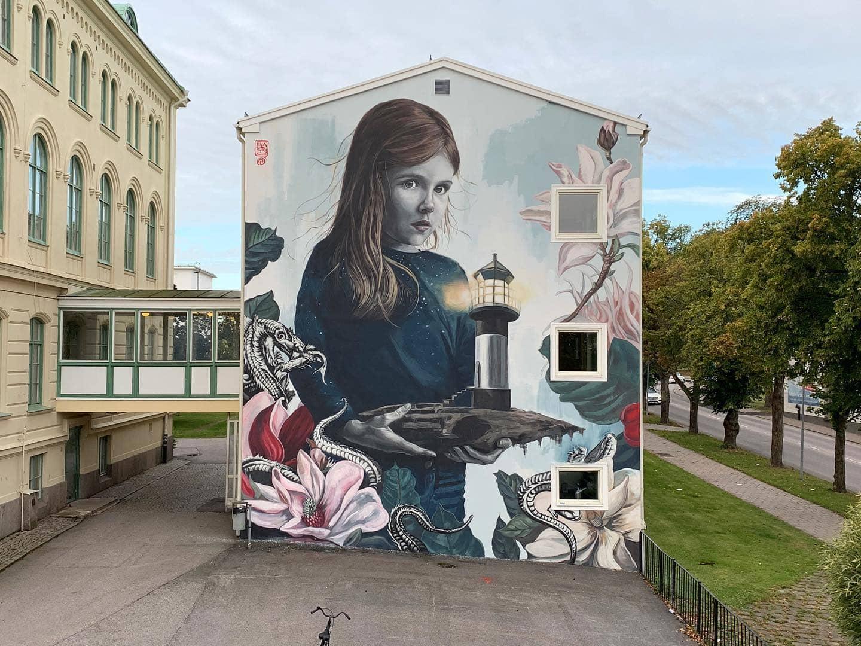 Västervik Sweden lula goce street art