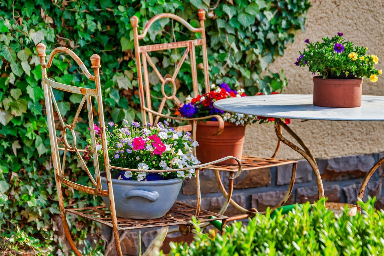 jardin decorado