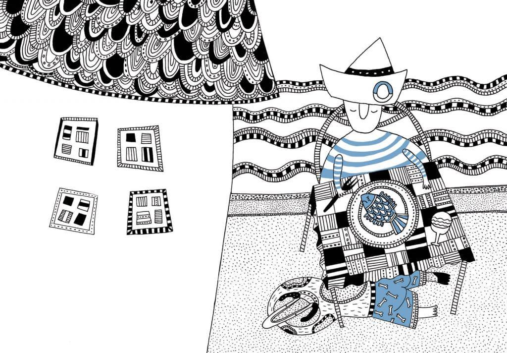 fisher de sofia venzel ilustracion