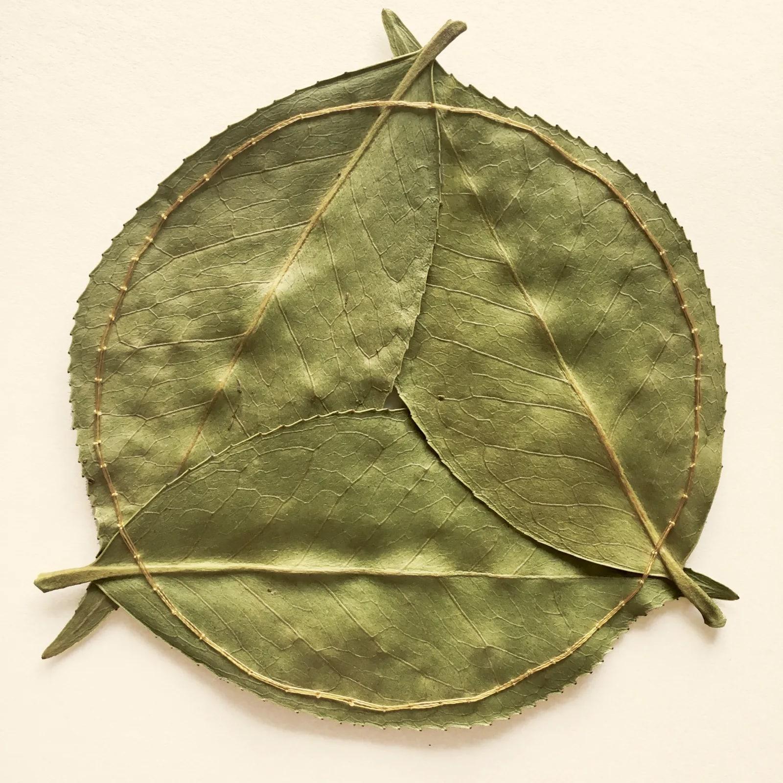 hillary bordado botanico hojas delicadeza