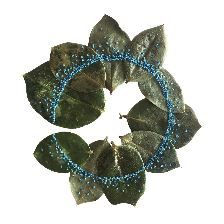 hillary bordado botanico hojas naturaleza