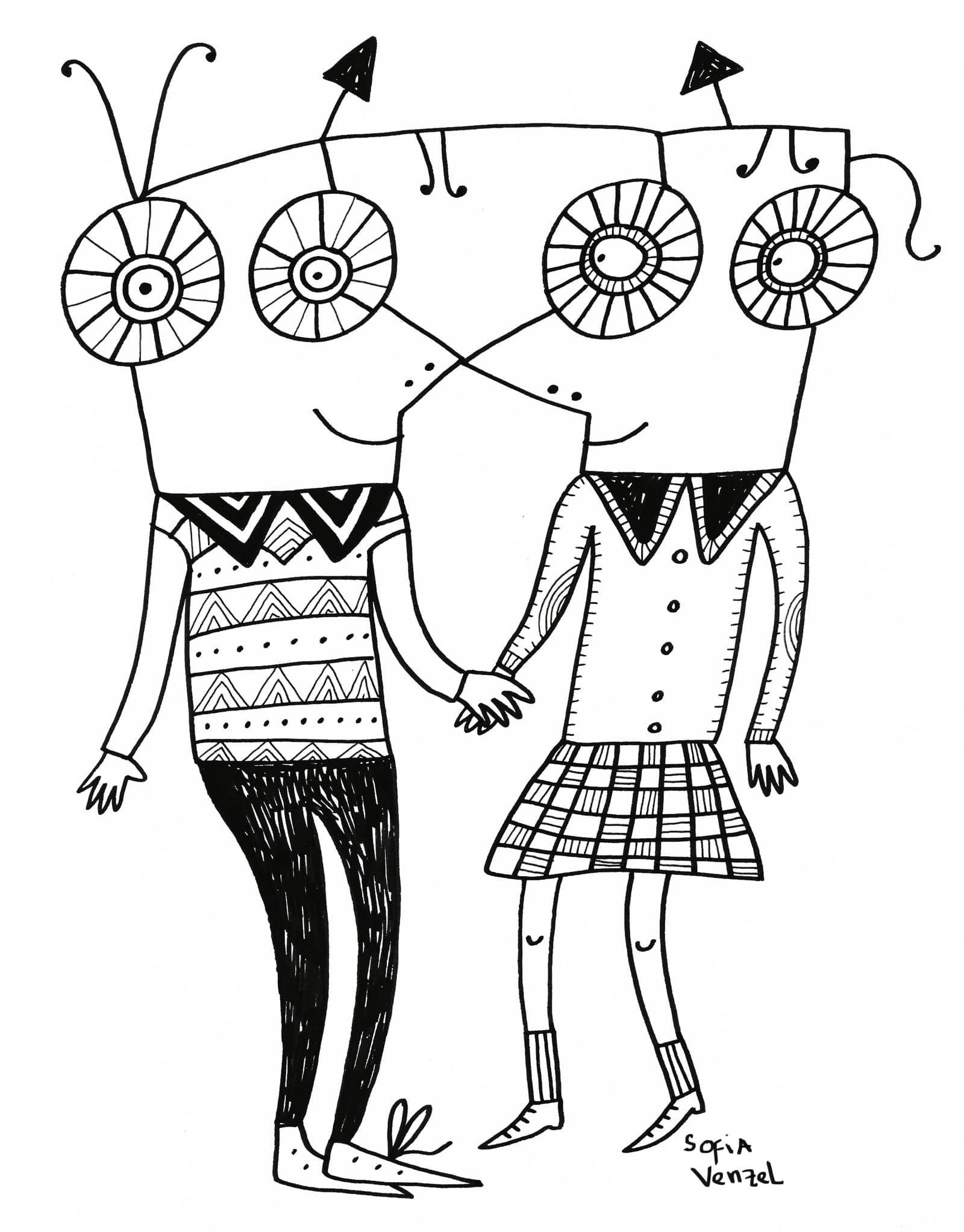 love de sofia venzel ilustracion