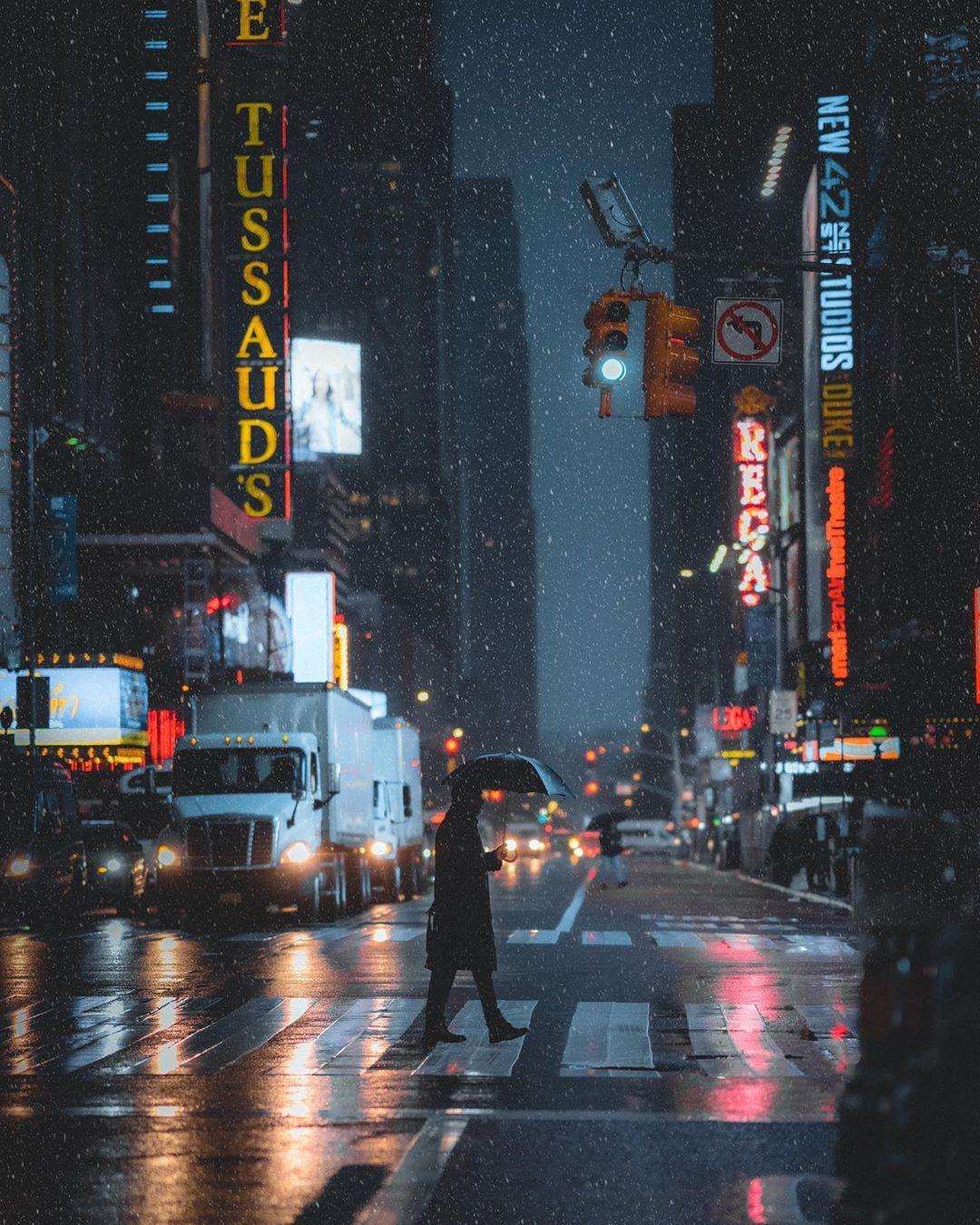 Entre niebla y noche se revela el lado oscuro de Nueva York | Fotografía