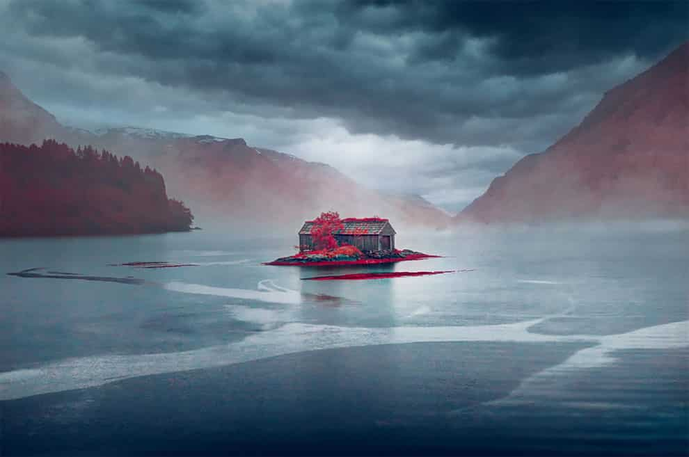 Norway's Dream House, in the infrared chrome category Photo by Yann Philippe