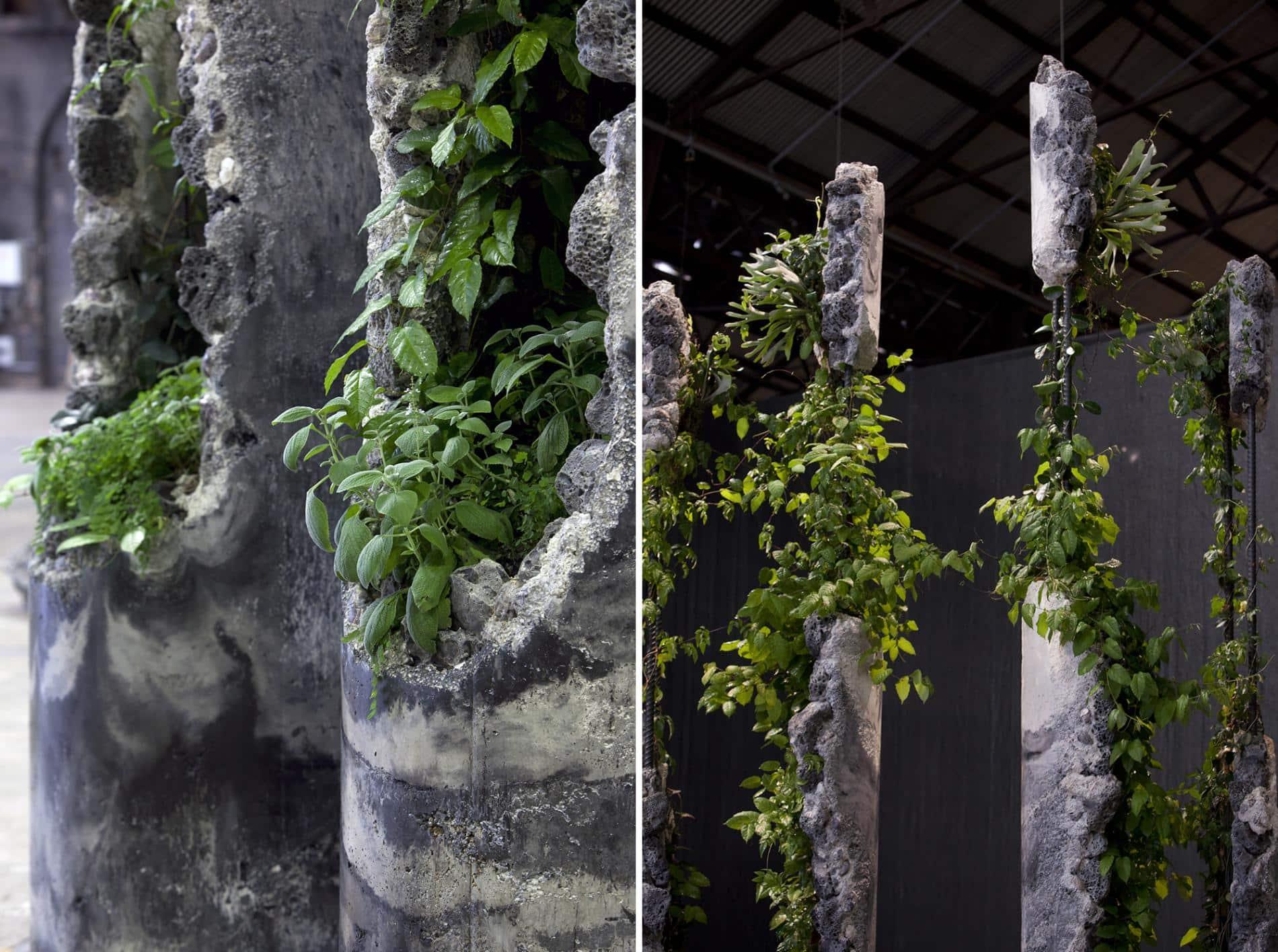 esculturas jamie north columnas Succession detalle