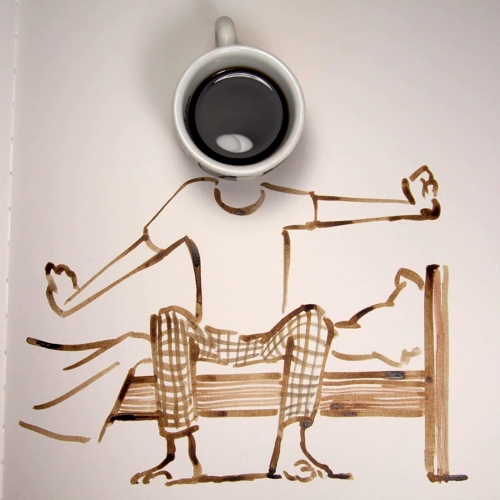 hombre café sunday sketches chritoph niemann